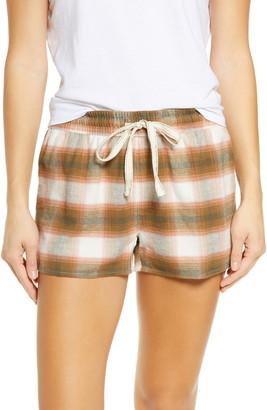 PJ Salvage Tie Waist Plaid Pajama Shorts