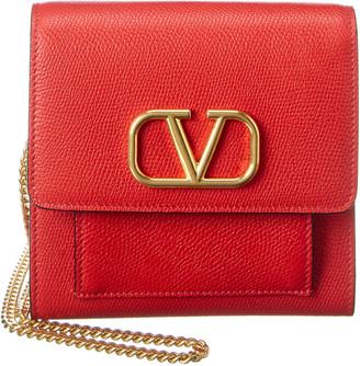 Valentino Vlogo Small Leather Crossbody