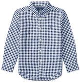 Ralph Lauren Long-Sleeve Gingham Sport Shirt, Blue, Size 5-7
