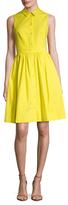 Karen Millen Colorful Cotton Flared Shirtdress
