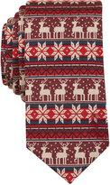 Bar III Men's Oh Deer Print Slim Tie, Only at Macy's