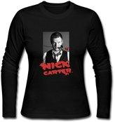 Nevada211. USM-Women's Nick Carter Backstreet Boys ROSE Love Long Sleeve Tee Shirt.