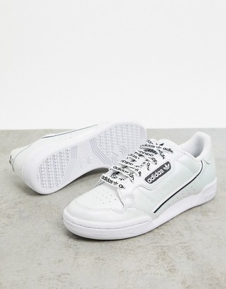 adidas Continental 80 trainers in white & black
