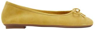 Sandler Alexa Mustard Suede Flat Shoes