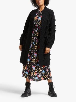 Somerset by Alice Temperley Long Bobble Knit Cardigan, Black