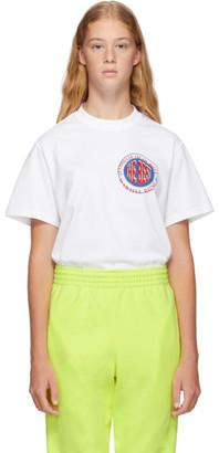Martine Rose White Inverted T-Shirt