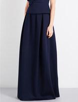 DELPOZO Pleated neoprene maxi skirt