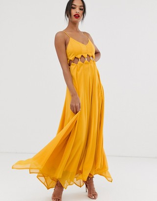 Asos DESIGN maxi dress with crinkle chiffon