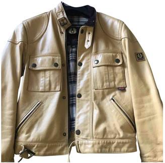 Belstaff Camel Leather Leather jackets