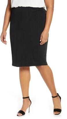 Ming Wang Knit Pencil Skirt