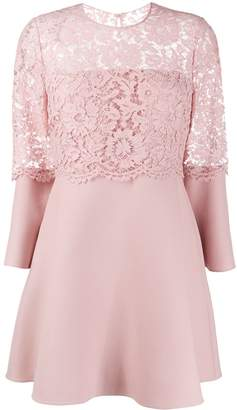 Valentino Lace Detail Short Dress