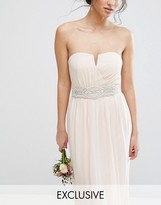 TFNC Wedding Wide Sash Belt With Pretty Embellishment