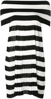 I'M Isola Marras striped off shoulder dress - women - Cotton/Nylon/Polyester/Viscose - M