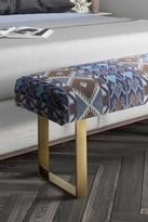 TOV Furniture Mohegan Multicolor/Gold Bench