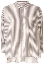 Nili Lotan striped 3/4 sleeve shirt
