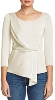 Bailey 44 Jule Mixed-Media Drape-Front Top