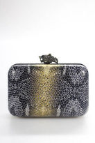 House Of Harlow Gold Metallic Leather Marley Clutch Handbag Size Small NEW
