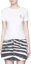 Ground Zero Movie character embroidered cotton T-shirt
