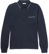 Boglioli - Contrast-tipped Virgin Wool Polo Shirt