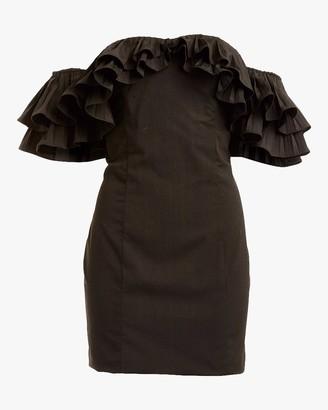 Lulu Faille Mini Dress