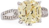 FANTASIA Cushion-Cut Canary CZ Crystal Ring