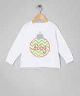 Swag White Zigzag Ornament Personalized Tee - Toddler & Girls
