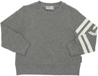 Moncler Logo Print Cotton Sweatshirt