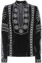 Dodo Bar Or Embroidered velvet top