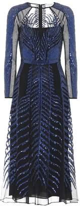 Temperley London Dusk sequined silk dress