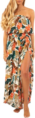 Rip Curl Tropic Coast Strapless Popover Maxi Dress