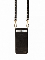 BANDOLIER Leather IPhone 5 Case With Gold Studded Strap