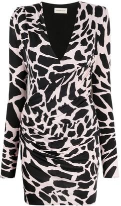 Alexandre Vauthier Giraffe Print Mini Dress