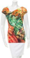 Roberto Cavalli Embellished Printed Top