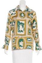 Hermes Wedgwood Silk Blouse