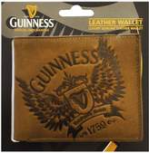 Guinness Brown Leather Credit Card & Notes Wallet With Wings Print