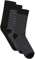 Yours Clothing BadRhino Plus Size Mens Textured 3 Pack Socks Ribbed Stretchy Textured
