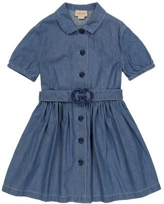 Gucci Kids Denim dress with belt