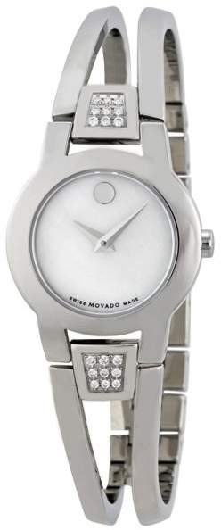 Movado 0606617 Stainless Steel White Mother Of Pearl Dial 25mm Womens Watch