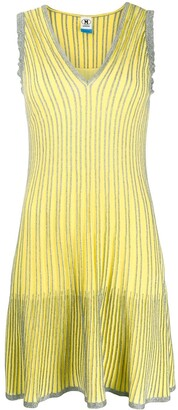 M Missoni Striped Metallic Midi Dress