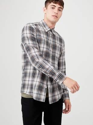 Very Long Sleeved Check Shirt - Grey