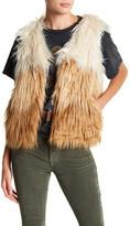 Mother Tri-Color Faux Fur Vest