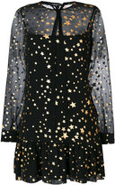 RED Valentino sheer star print dress - women - Polyester/Wool - 42