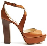 Jimmy Choo April 120mm block-heel sandals