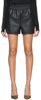 Wolford Black Faux-Leather Stella Shorts