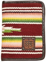 Buffalo Girl Sts Ranchwear STS Ranchwear Serape Magnetic Wallet (Maroon/Pink/Green) Bags