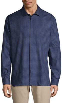John Varvatos Slim-Fit Long-Sleeve Plaid Shirt