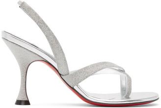 Christian Louboutin Silver Taralita 85 Heeled Sandals