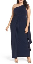 Adrianna Papell Plus Size Women's Jersey One-Shoulder Gown