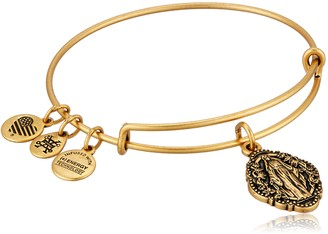 Alex and Ani Divine Guides Expandable Bangle Bracelet for Women Mother Mary Engraved Charm