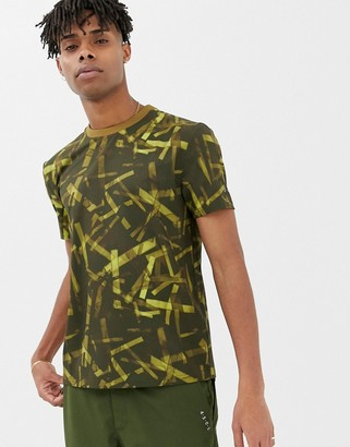 ASOS 4505 woven t-shirt with camo print and utility pockets